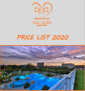 Price List - Hotel All'Alba